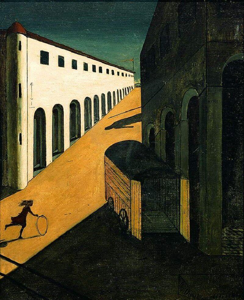 Giorgio De Chirico: Egy utca rejtélye és melankóliája