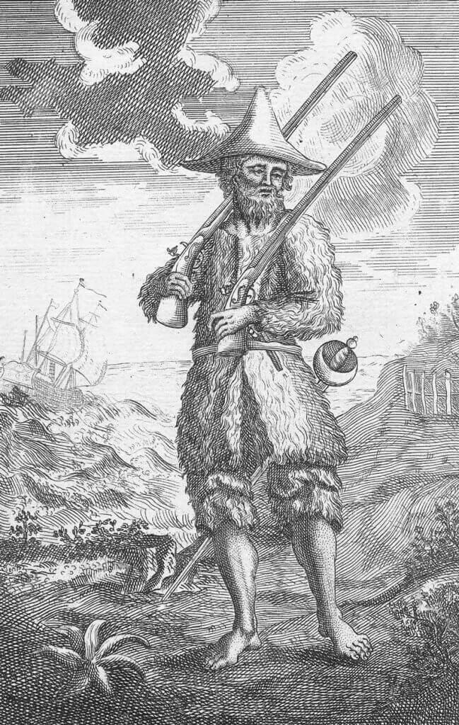 Illusztráció a Robinson Crusoe-ból, libweb5.princeton.edu