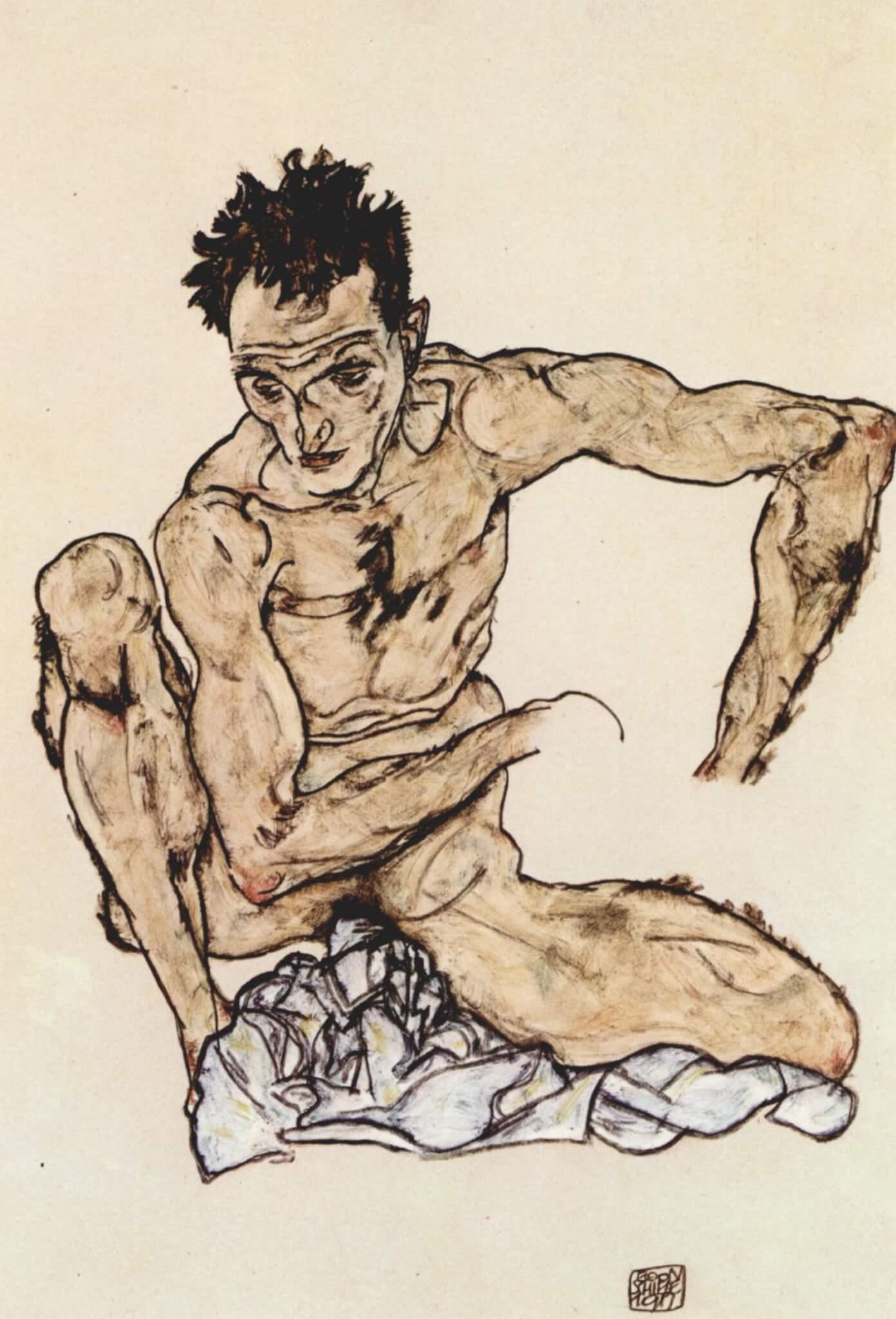 Egon Schiele rajza