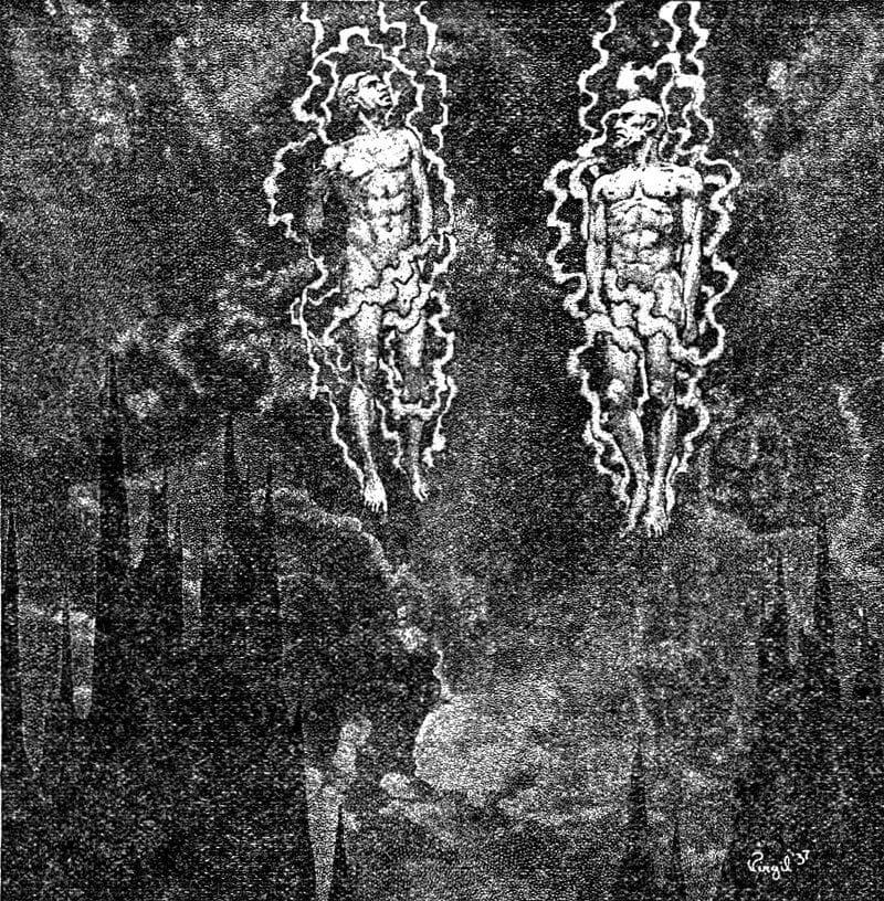 Illusztráció egy 1919-es kiadású H. P. Lovecraft-kötethez, wikimedia.org