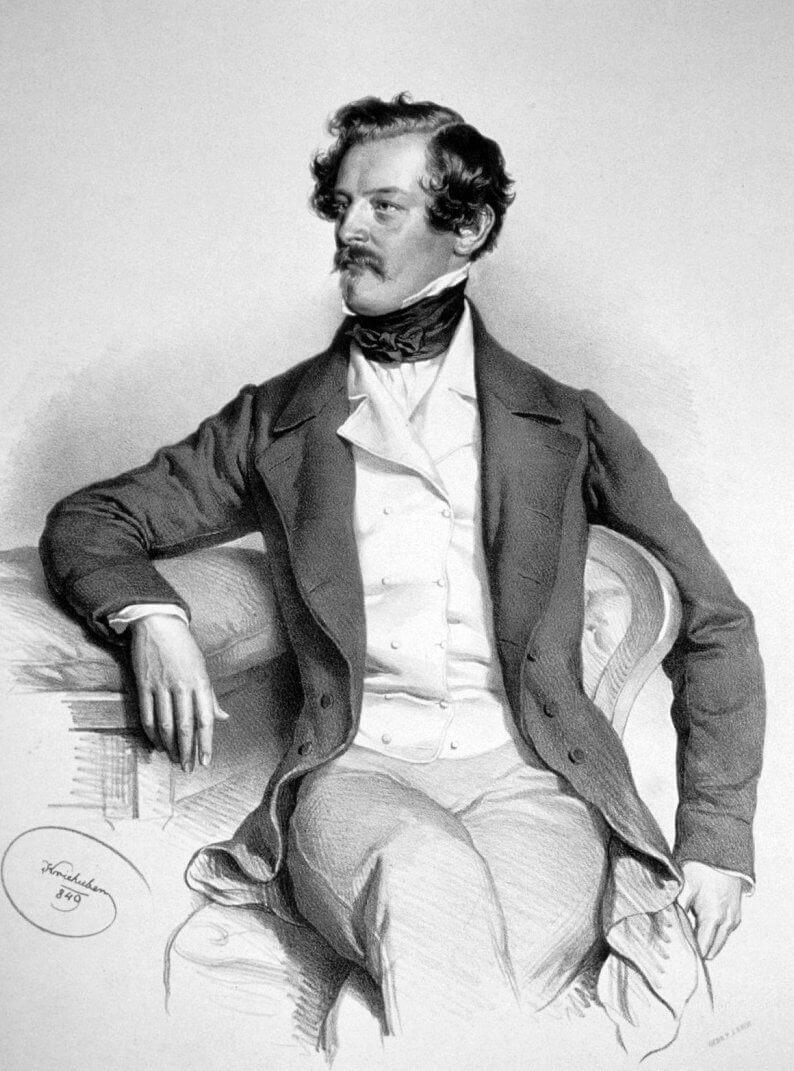 Josef Kriehuber litográfiája Alexander Bachról 1849, wikipedia.org