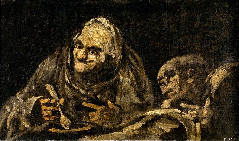 Francisco De Goya: Öreg ember levest eszik, wikipedia.org