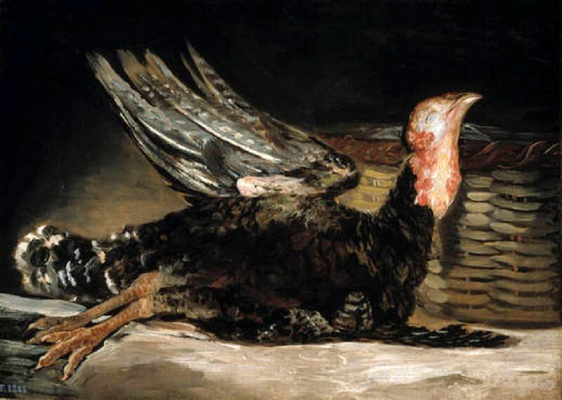 Francisco De Goya: Döglött pulyka, wikiart.org