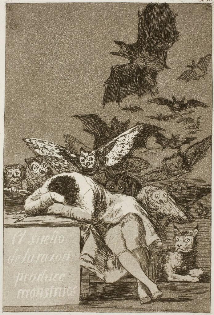 Francisco De Goya: Az ész álma szörnyeket szül, wikiart.org