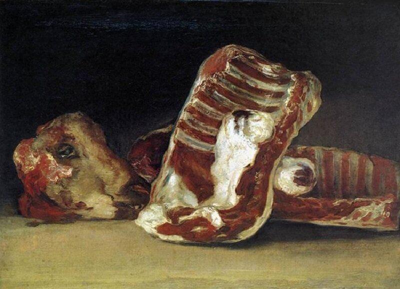 Francisco De Goya: Csendélet a hentespulton, wikiart.org