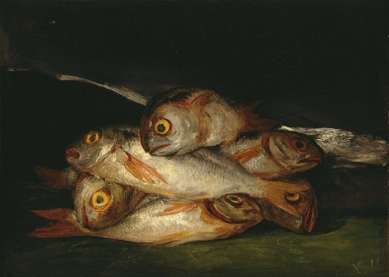 Francisco De Goya: Csendélet arany keszeggel, wikimedia.org