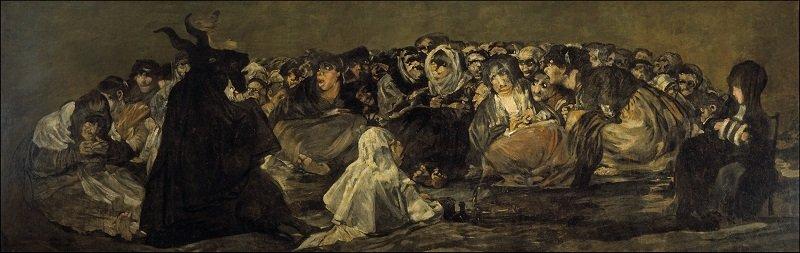 Francisco de Goya y Lucientes: Boszorkányszombat, 1821-23