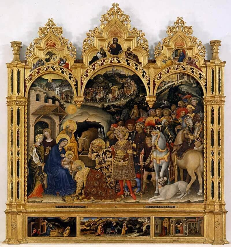 Gentile da Fabriano: A Háromkirályok imádása