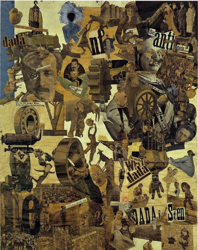 Hannah Höch, Cut with the Kitchen Knife Dada Through the Last Weimar Beer-Belly Cultural Epoch of Germany, 1919-20, flickr.com
