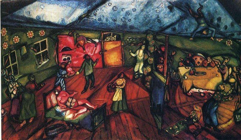 Marc Chagall: Születés, wikiart.org