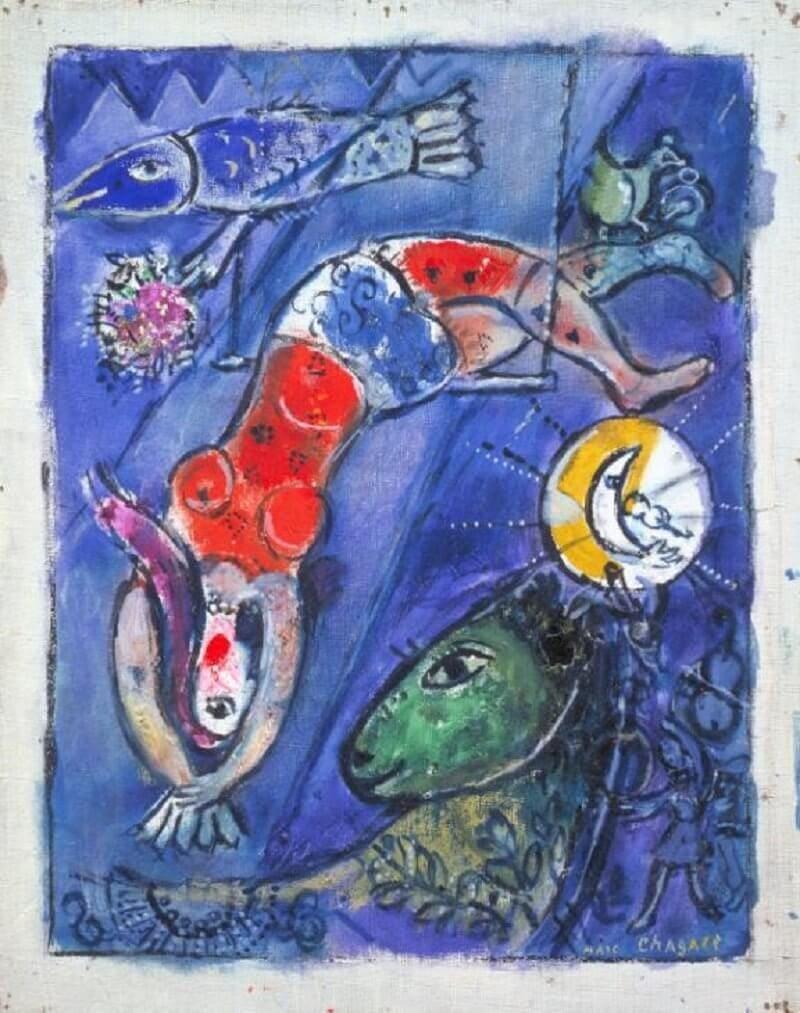 Marc Chagall: A kék cirkusz, tate.org.uk