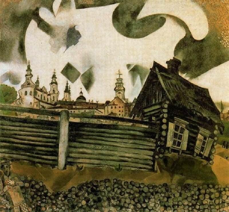 Marc Chagall: A szürke ház, wikiart.org