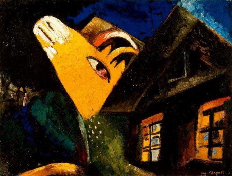 Marc Chagall: A tehénistálló, wikiart.org