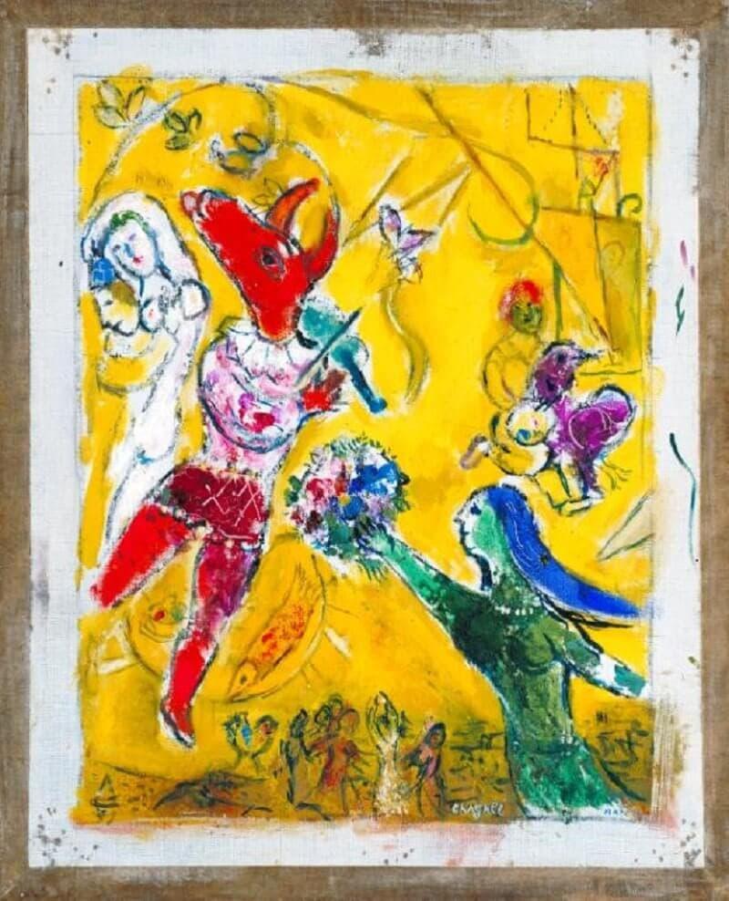 Marc Chagall: Tánc és cirkusz, tate.org.uk artist 1953 http://www.tate.org.uk/art/work/N06135