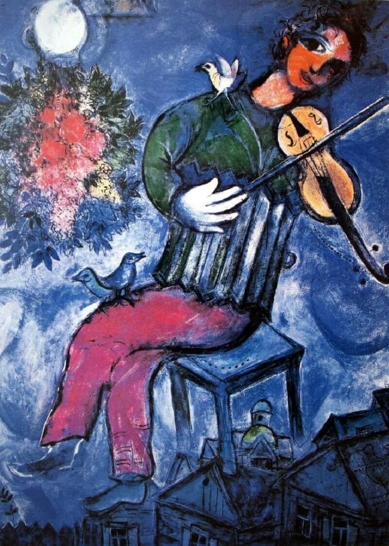Marc Chagall: Kék hegedűs, pinterest.com