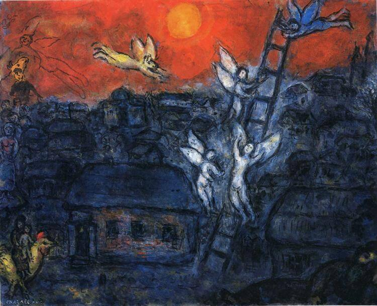 Marc Chagall: Jákob létrája