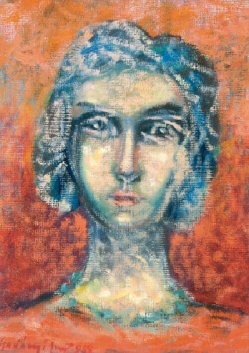 Gadányi Jenő: Női portré, viragjuditgaleria.hu