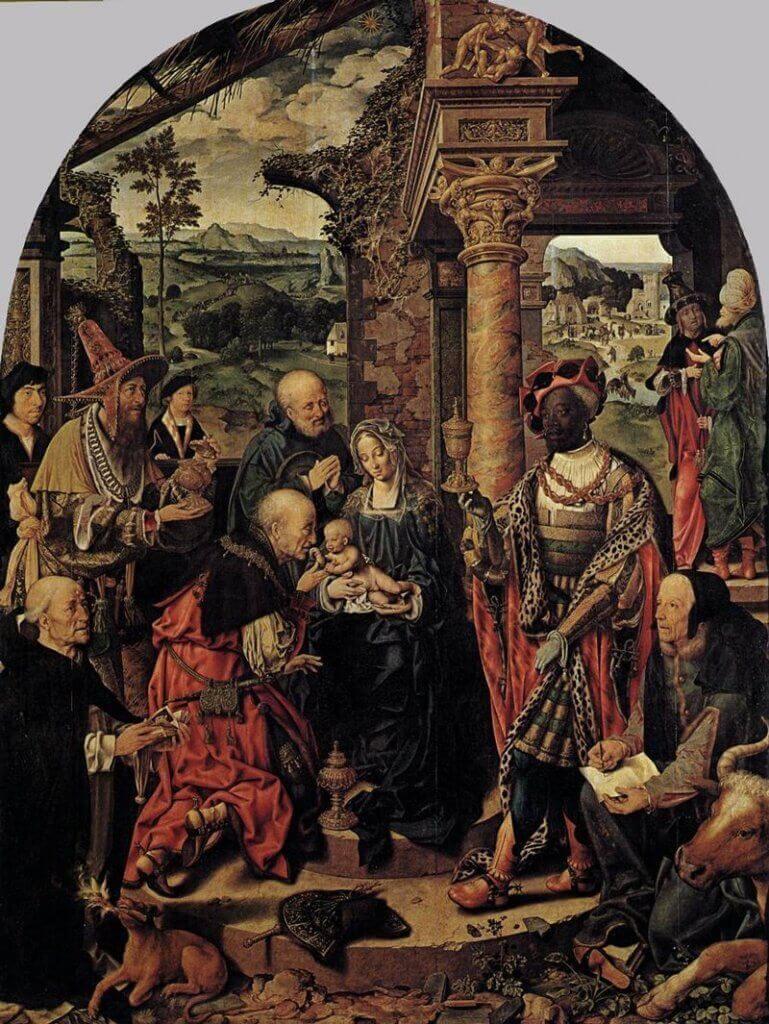 Joos Van Cleve: A Háromkirályok imádása