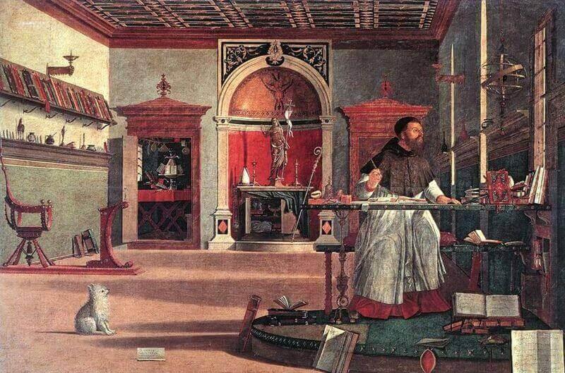 Vittore Carpaccio: Szent Ágoston a stúdióban, wikimedia commons