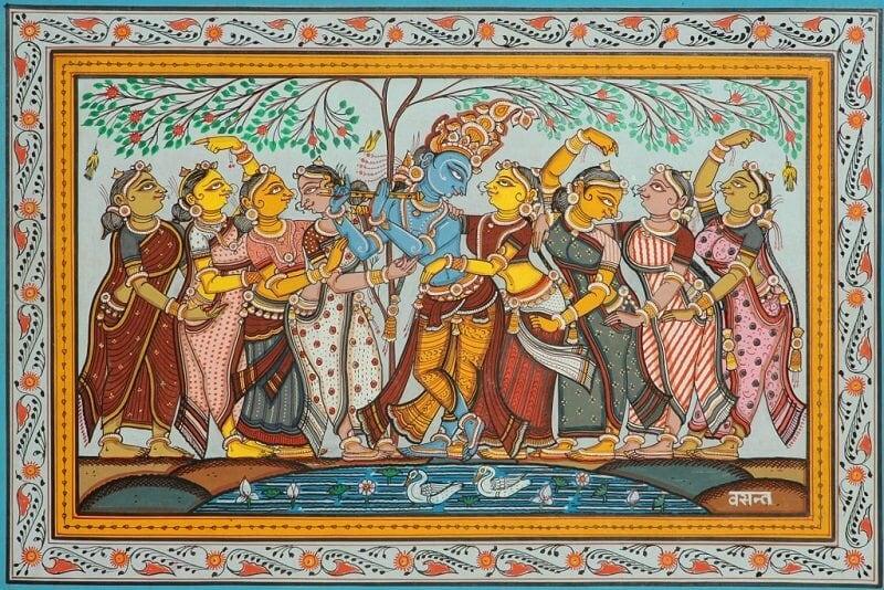 Krisna ábrázolás, lite.swarajyamag.com