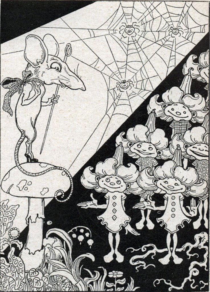 Antonio Rubino illusztrációja H. C. Andersen Az aranykincs című művéhez (1911)