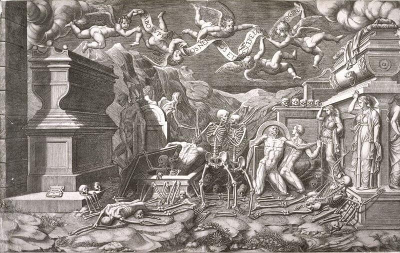 Giorgio Ghisi: Ezékiel látomása Giovanni Battista Bertani után, art.famsf.org