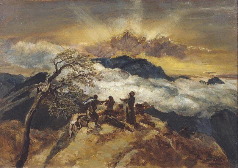 Paul Falconer Poole: Vázlat Ezékiel látomásához, tate.org.uk