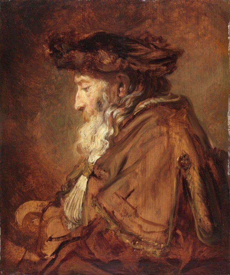 Rembrandt: Egy rabbi portréja