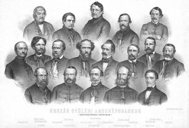 Országgyűlési képviselők 1861, wikimedia.com