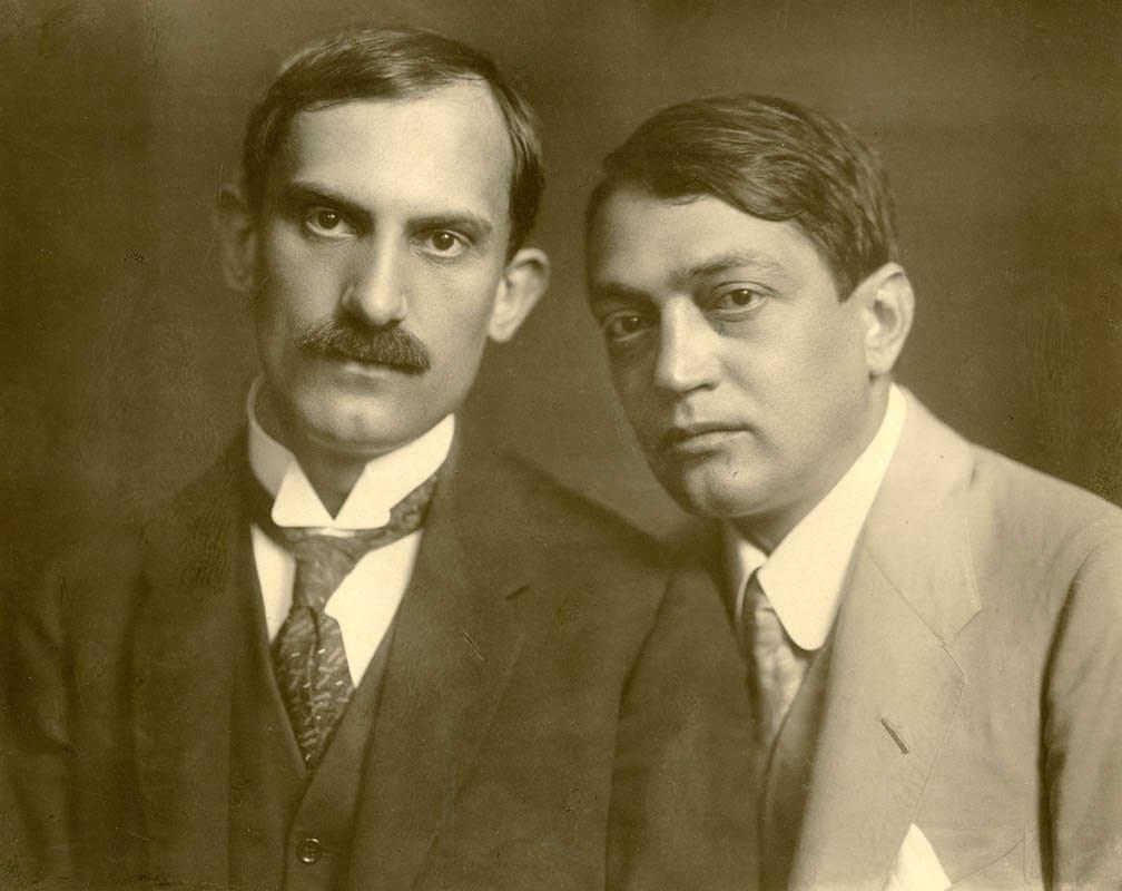 Babits és Ady. Székely Aladár fotója