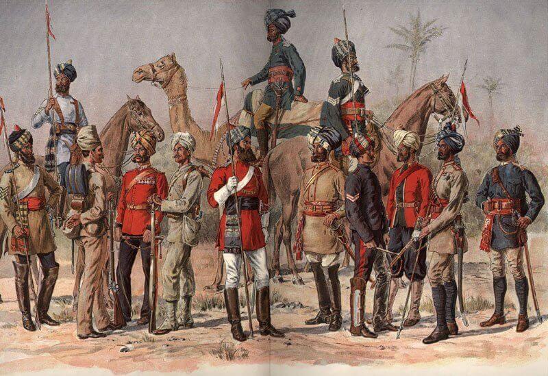 Madras Hadsereg, Kelet-Indiai Társaság, mwgerard.com