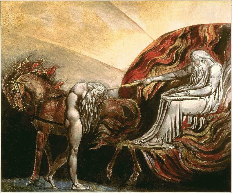 William Blake: Isten elítéli Ádámot, wikimedia.org