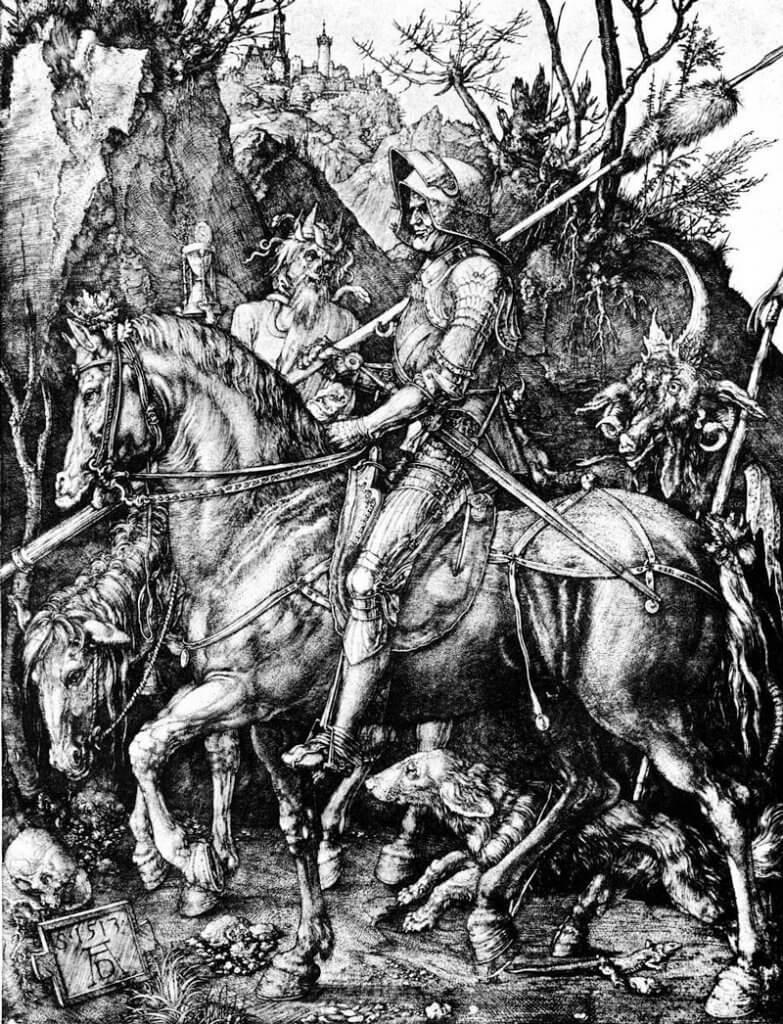Albrecht Dürer: Halál lovag és az ördög, onartetc.wordpress.com
