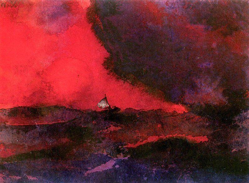Emil Nolde: Sötétvörös tenger