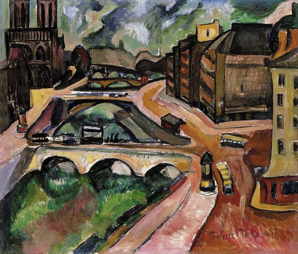 Perlrott Csaba Vilmos | Párizs látképe háttérben a Notre Dame-mal