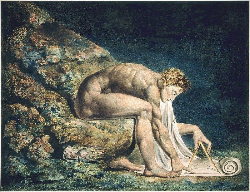 William Blake: Newton, commons.wikimedia.org