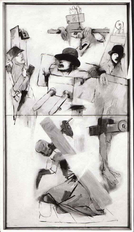 Tartuffe rajz az Engedd a művészeket meghalni c. darabhoz, Circot 2, 1985, pinterest.com