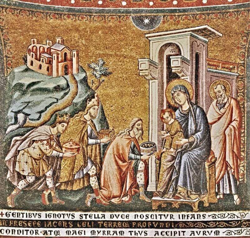 Pietri Cavallini: A Háromkirályok imádása