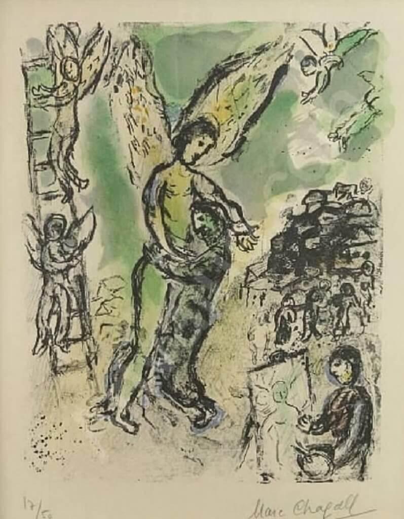 Marc Chagall: Jákob harca az angyallal, pinterest.com