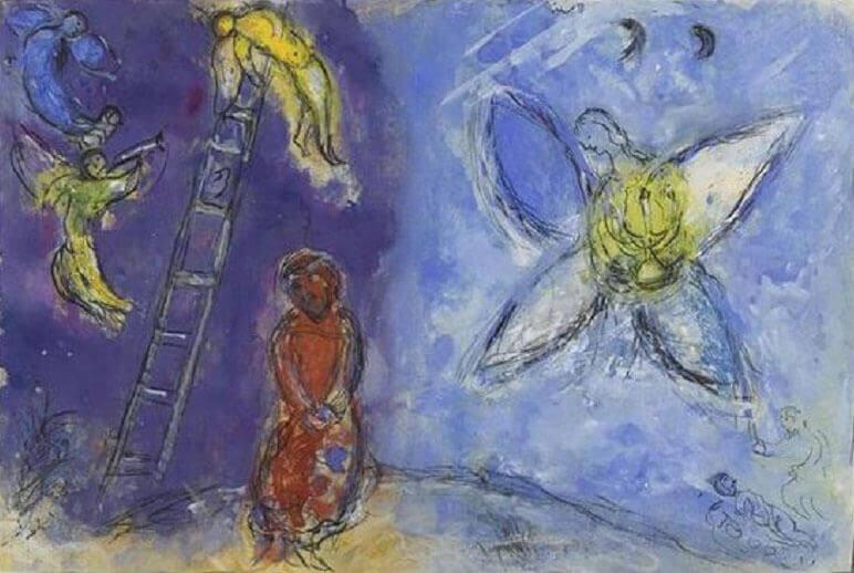 Marc Chagall: Jákob álma, pinterest.com