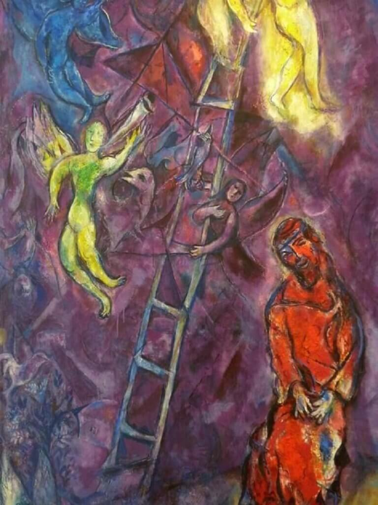 Marc Chagall: Jákob lajtorjája, pinterest.com