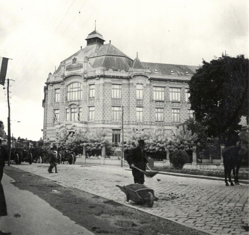 Egyetemi könyvtár épülete, fortepan.hu
