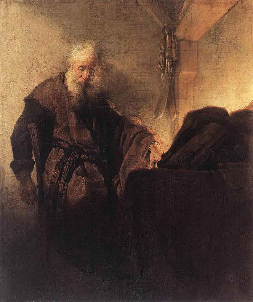 Rembrandt: Pál apostol íróasztalánál