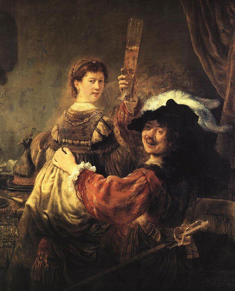 Rembrandt: Önarckép Saskiával