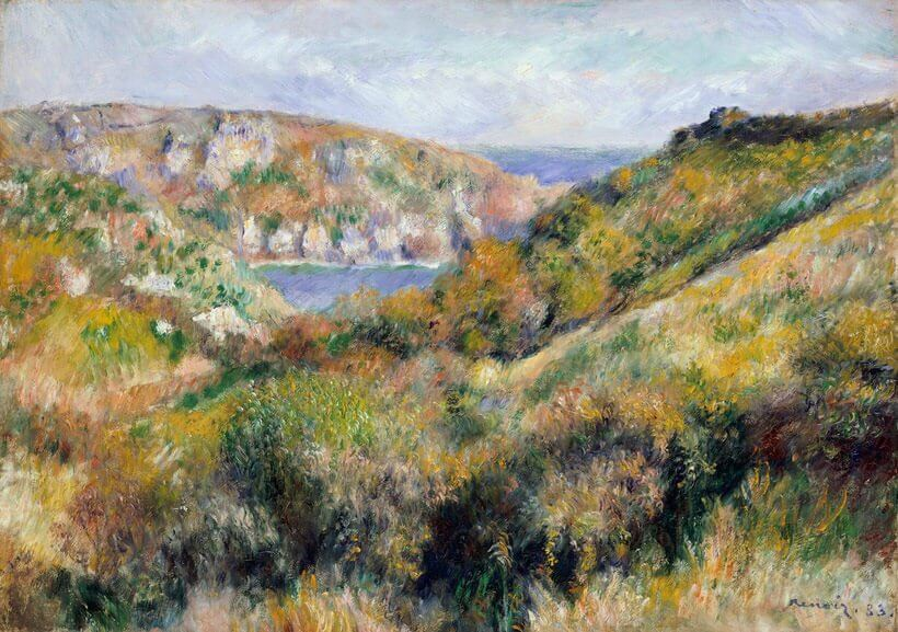 Working Title/Artist: Renoir: Hills Around the Bay of Moulin HuetDepartment: Nineteenth-Century, Modern, and Contemporary ArtCulture/Period/Location: HB/TOA Date Code: Working Date: photography by mma, Digital File DT1880.tif retouched by film and media (jnc) 5_4_11