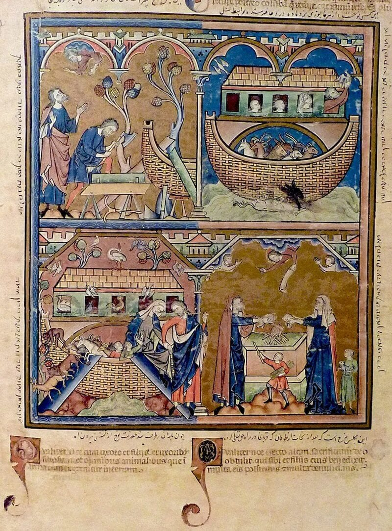 Noé története, Morgan Biblia, 1250, richardmcbee.com