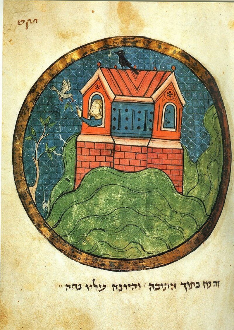 Noé és a galamb, London Miscellany Illustration, 1280, richardmcbee.com
