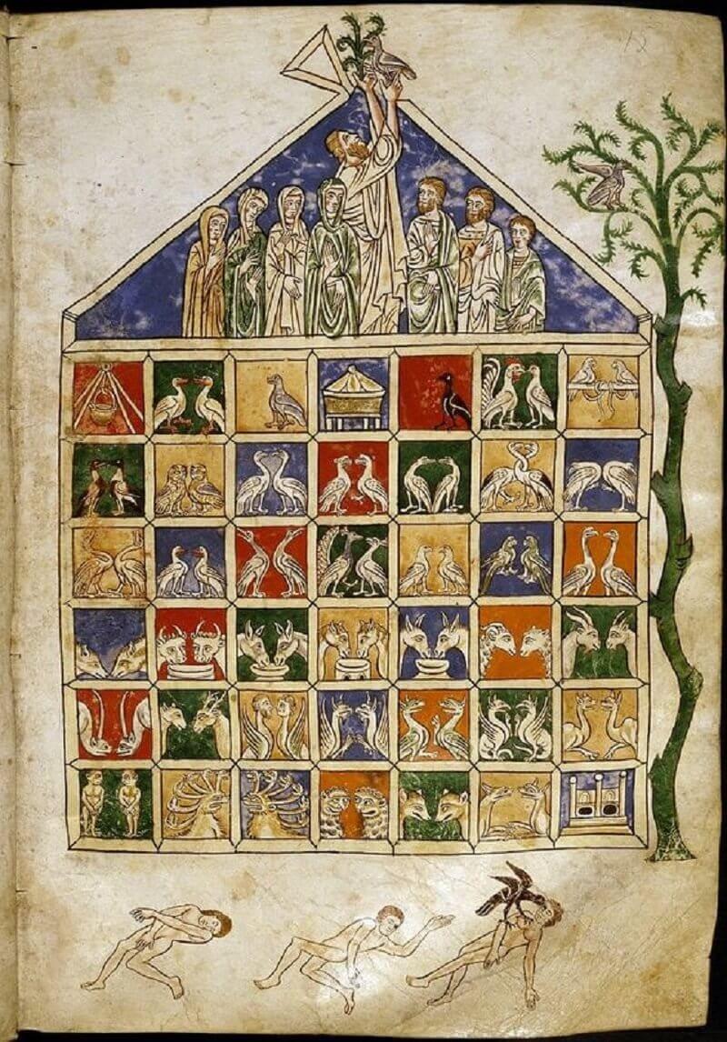 Noé bárkája, The Rylands Beatus, 13. század, bibliodyssey.blogspot.co.uk