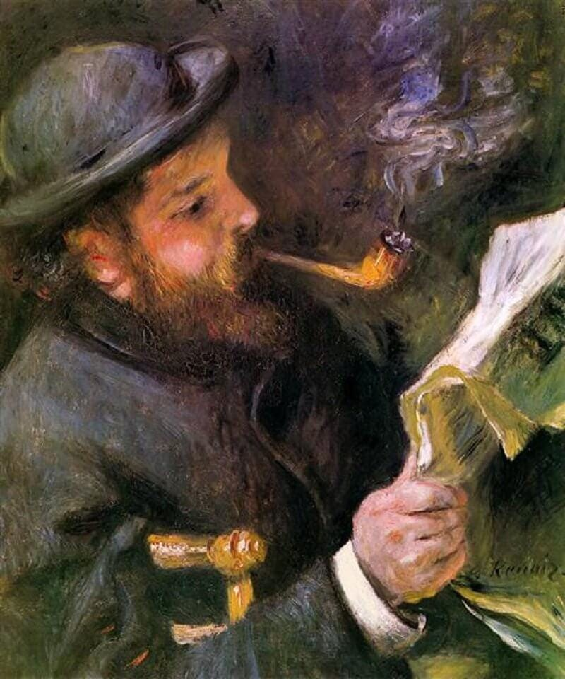 Pierre-August Renoir: Claude Monet olvas, wikiart.org