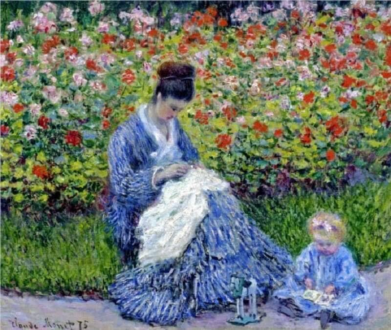 Claude Monet: Madame Monet gyermekével, wikiart.org